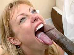 Blonde wife babe fucked by two black guy with big cocks