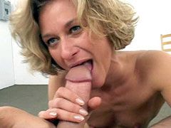 Mature whore gets messy facial cumshot after groupsex