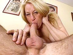 Busty mature babe sucks strong dick and hard anal fucking