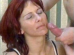 Sexy mature wife fucked on table