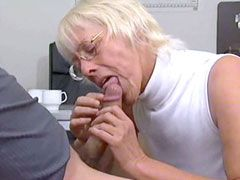 Old mature with old dirty body fucked in office