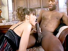 Sexy milf housewife babe licking huge black cock and hard..