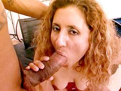 Busty redhead mature babe banged by black big dick for..
