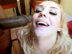 Black guy lick pussy sexy blondy wife babe and wild drill..