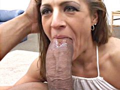 Gigantic black monster cock drilled hungry mature..