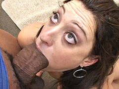 Gigantic fat black cock banged horny mom chik for hot..
