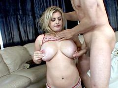 Perfect blonde wife with natural big..