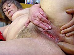 Young strong cock anal banged hairy granny chick and..