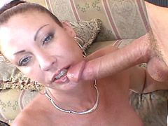 Sexy beauty housewife lady gets face fuck and hard bang in..