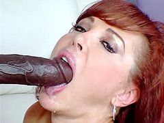 Big boobs redhead mature in black stockings hard bang in shaved pussy for cum