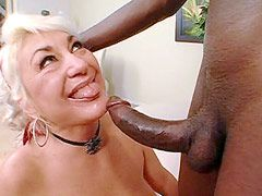 Huge black cock face fuck and hard anal bang blonde granny babe