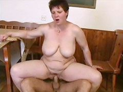 Busty mature wife and hustbang fucking