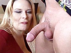 Big boobs mom jumping on hard dick
