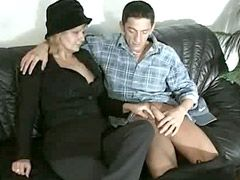 Blonde mature lady gives..
