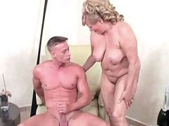 Chubby mature face fucked and fucked by big cock