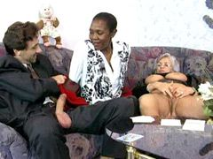 Three old whores with big tits fffm interracial groupsex..