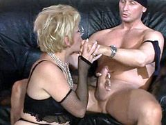 Hairy granny bitch hard fucked in wild group sex
