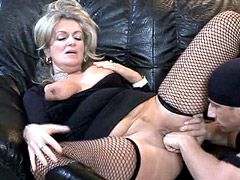 Old housewife gets fingered and hardcore fucked