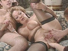 Mature gets fingered and fisted