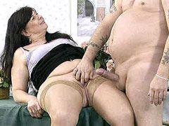 Brunette mature hard anal fucked