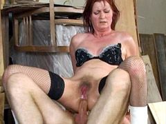 Old housewife hardcore fucked in all holes at home