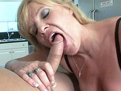 Blonde housewife babe gets hard fist..