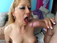 Mature bitch sucking big cock and gets hard assfucked