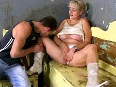 Sexy blonde mature chick hard analfucked and facialed