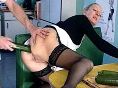 Horny housewife gets huge..