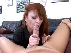 Hairy mature wife takes 18 inch big cock and pisses