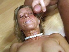 Hot blonde wife gets hardcore bang and facial cumshot