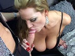 Glamour mature lady with big boosb and ebony chick ffm..