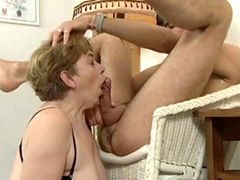 Mature housewife hardcore action blowjob and facial