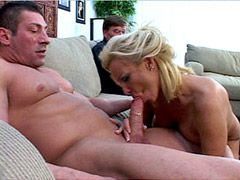 Blonde mature wife fucked in group sex