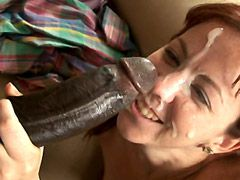 Big black cock penetrating in mature shaved pussy for hot..