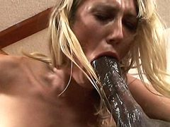 Mature babe gives hot blowjob to huge cock and getting..