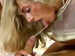 Sexy mature blonde women in white panies fucked by boy