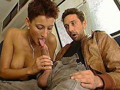Sexy mature women sucks cock and gets big cock hardcore