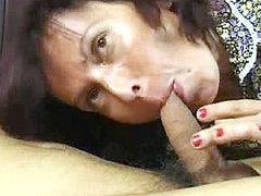 Mature hardcore action blowjob and cumshot