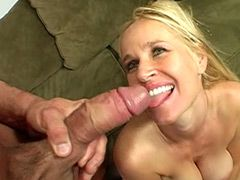 Blonde mature chick sucking cock and fucking doggystyle
