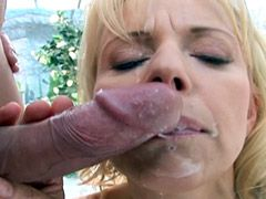 Mature babe in hard sex acts on white..