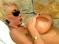 Beautiful retro mature lesbian with..