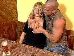 Busty mature bitch hard fucks and gets..