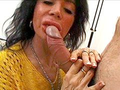 Blonde mature whore gets strong cock in her hairy beaver
