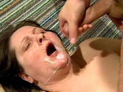 Plumper mature whore facial cumshot afte wild hardcore