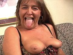Granny gives blowjob and gets hard penetrated on bed