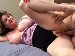 Big boobs mature whore anal screwing and facialed