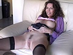 Busty mature whore sucks strong cock before getting railed