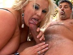Blonde chubby mature with gigantic tits hard penetrated