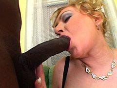 Black brotha with big black cock interracial fucked mature